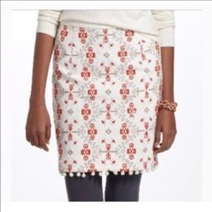 ANTHROPOLOGIE MAEVE BLOMMA CROSS STITCHED SKIRT